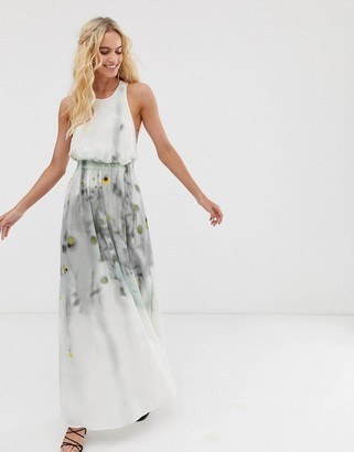 And other stories & semi sheer watercolour maxi dress