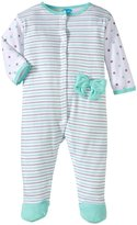 Bon Bebe Bows & Stripes Footed Coverall (Baby)-Multicolor-6-9 Months