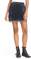 Free People Sequin Mesh Miniskirt