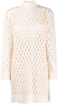 Fendi mesh knitted dress