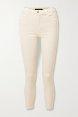 J Brand Alana Cropped High-rise Skinny Jeans - Cream