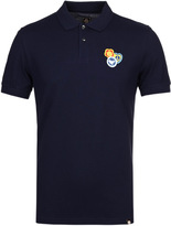 Pretty Green Colwell Badge Navy Short Sleeve Polo Shirt