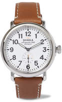 Shinola The Runwell Stainless Steel and Leather Watch