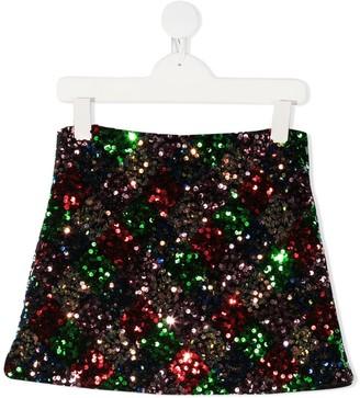 Gaelle Paris Kids Sequin-Embellished Mini Skirt