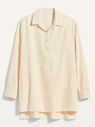 Old Navy Oversized Popover Tunic Top for Women