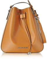 Armani Jeans Pumpkin Eco Leather Signature Bucket Bag