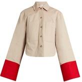 Palmer Harding PALMER//HARDING Contrast-cuffs cotton-twill jacket