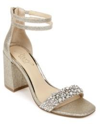 Badgley Mischka Women's Natala Block Heel Evening Sandal Women's Shoes
