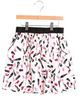 Kate Spade Girls' Lipstick Print A-Line Skirt