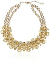 """Carolee Union Square"""" Suede Pearl Dramatic Frontal Necklace, 14"""""""