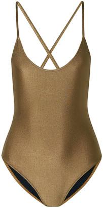Caroline Constas Delfina Metallic Swimsuit