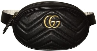 Gucci Marmont Black Leather Belt Bags