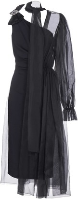 Dolce & Gabbana Silk-blend And Tulle Asymmetric Gown