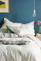 Anthropologie Relaxed Cotton-Linen Duvet Cover