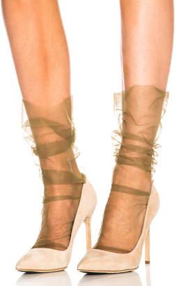 Bos. & Co. Pan & The Dream Italian Nylon Tulle Socks in Bosco | FWRD