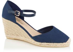 a6bde1786c8 Navy Canvas Ankle Strap Espadrille Sandals