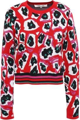 Diane von Furstenberg Jacquard Wool-blend Sweater
