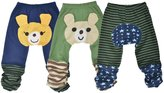 Simplicity set of 3 Toddler boys pants in multicolors, 6 to 38 Mths