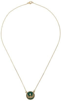 Foundrae 18kt Yellow Gold Diamond Protection Pendant Necklace