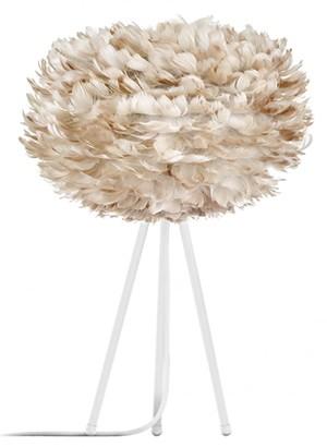 EOS Umage UMAGE - Medium Light Brown Feather White Tripod Table Lamp - Brown/White