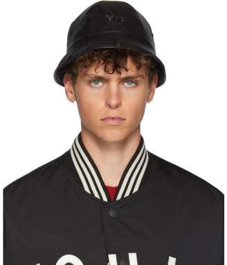 Y-3 Reversible Black Logo Bucket Hat