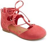 Cat & Jack Toddler Girls' Tenley Ghillie Ballet Flats