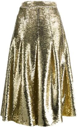 Simone Rocha Sequin Pleated Midi Skirt