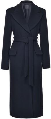 Pinko Tie-Waist Longline Coat