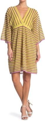 M Missoni Plunge Neck Patterned Dress