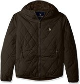 U.S. Polo Assn. Men's Diamond Quilted Hooded Jacket