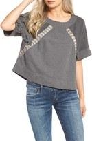 Rip Curl Women's Hideaway Fringe Short Sleeve Sweatshirt