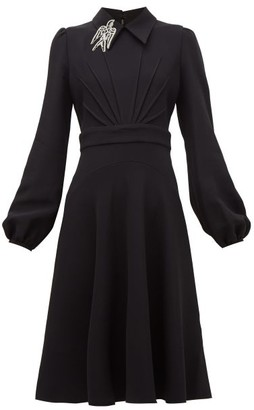 No.21 No. 21 - Crystal Bird-embellished Cady Dress - Womens - Black