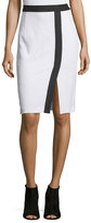 Nanette Lepore Two-Tone Pencil Skirt