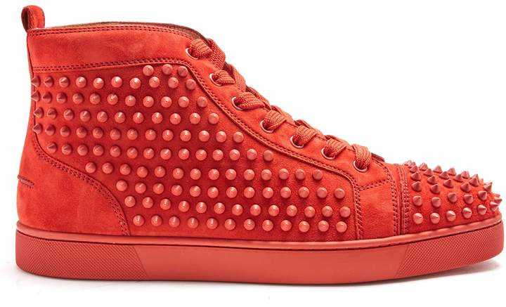 Christian Louboutin Louis high-top spike-embellished trainers
