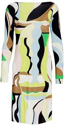 Emilio Pucci Vallauris Sequin Cuff Jersey Dress
