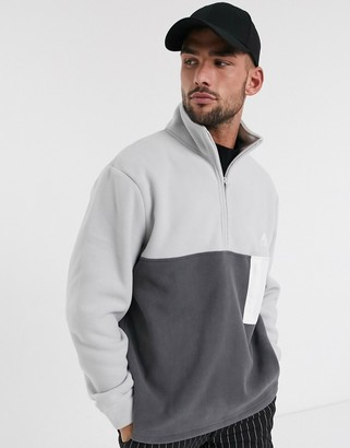 Topman fleece in cream and grey