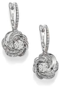 De Beers Aria Diamond& 18K White Gold Sleeper Drop Earrings