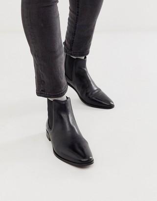 Walk London alfie chelsea boots in black leather