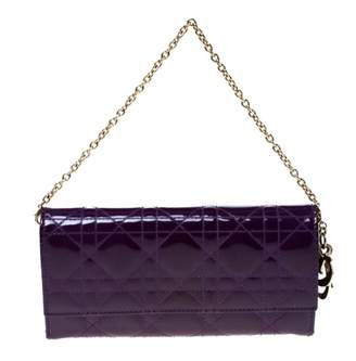 Christian Dior Purple Patent leather Wallets