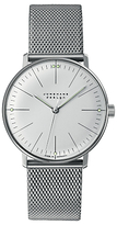 Junghans 027/3004.44 Max Bill Hand Winding Mesh Bracelet Strap Watch, Silver/grey