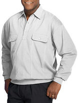 Harbor Bay Long-Sleeve Mesh Panel Banded-Bottom Shirt Casual Male XL