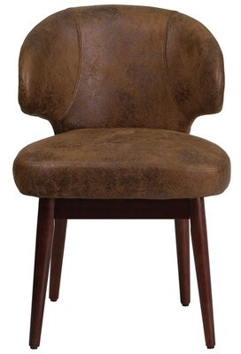 Wrought Studio Fluellen Comfort Back Bomber Jacket Guest Chair