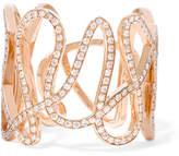 Repossi White Noise 18-karat Rose Gold Diamond Ring - 52