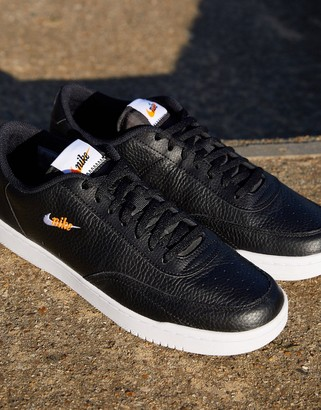 Nike Court Vintage Premium leather trainers in black