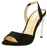 Betsey Johnson Naomi Peep-toe Canvas Slingback Heel.