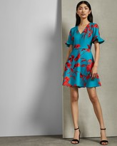 Ted Baker Fantasia V Neck Skater Dress
