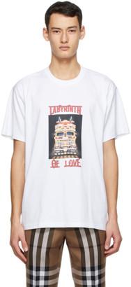 Burberry White Photo Print T-Shirt