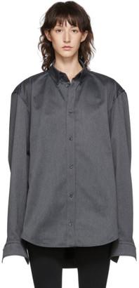 Balenciaga Grey Square Back Shirt