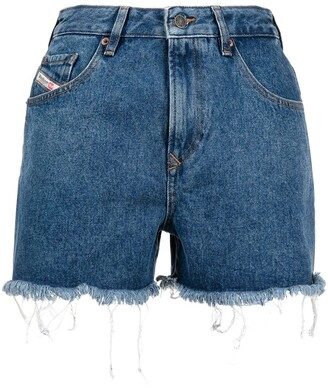 Diesel Raw-Edge Denim Shorts