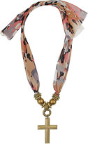 Topshop Cross Scarf Necklace